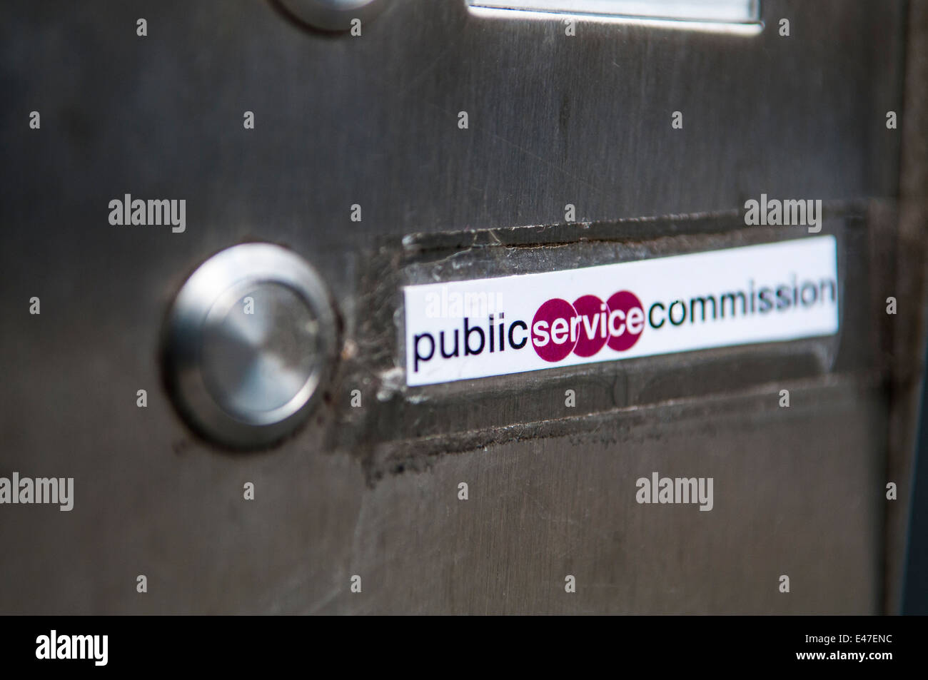 Call bell for the Public Service Commission - Stock Image