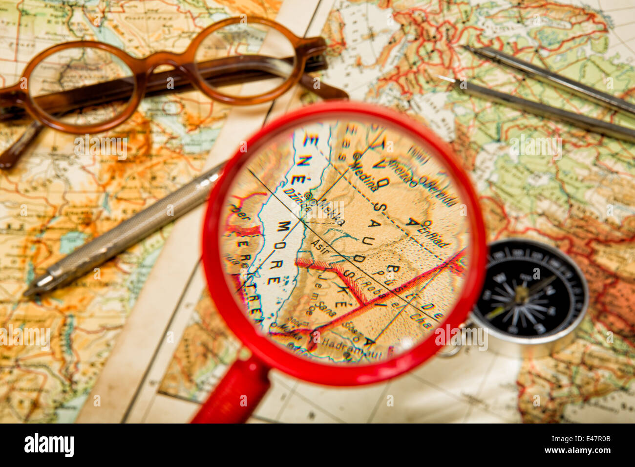 Traveling in the history is an important part of education - Stock Image
