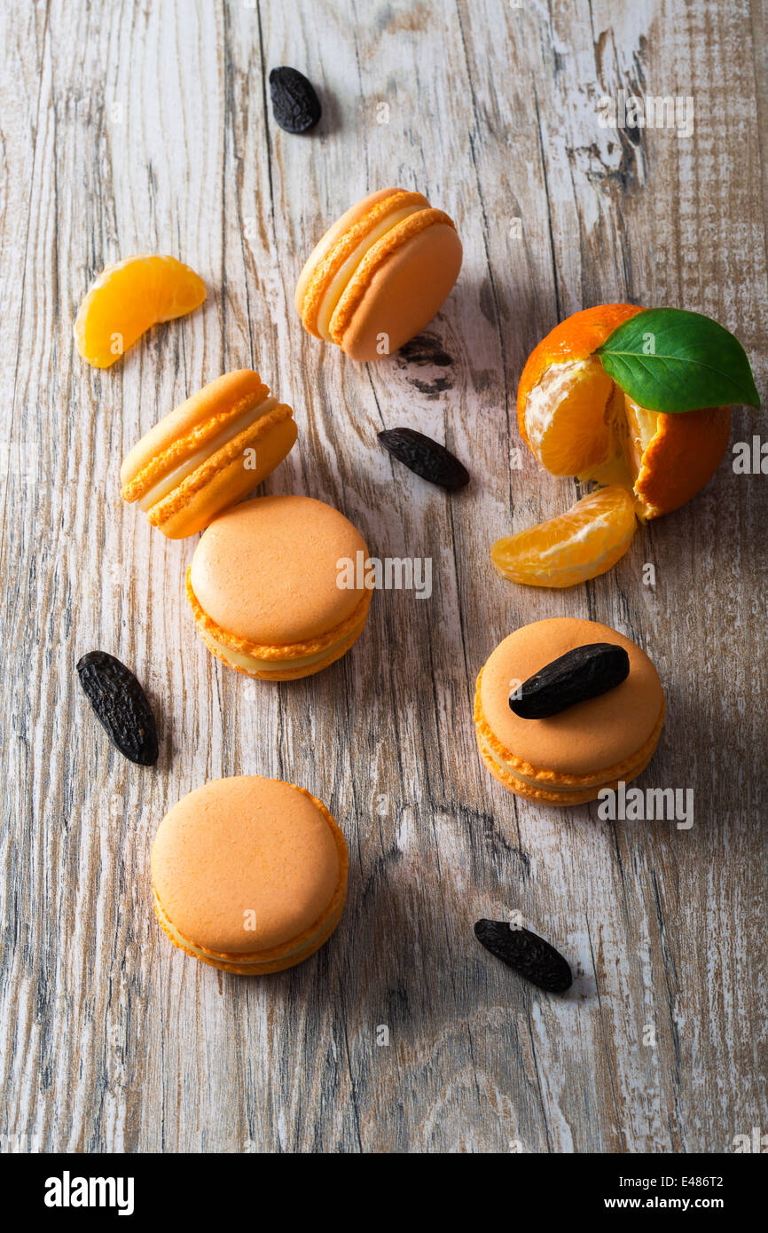 orange macaroon - Stock Image