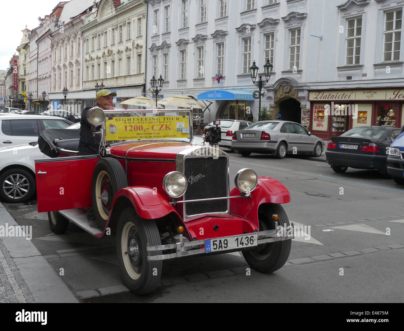CZECH REPUBLIC - Prague Old car used for carrying tourists. photo by ...