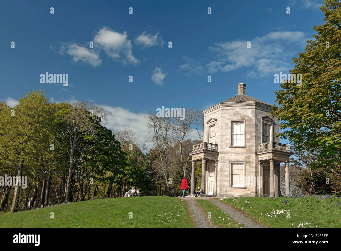 View on the Temple of the Winds, Newtownards, County Down, Northern Ireland, United Kingdom. - Stock Image