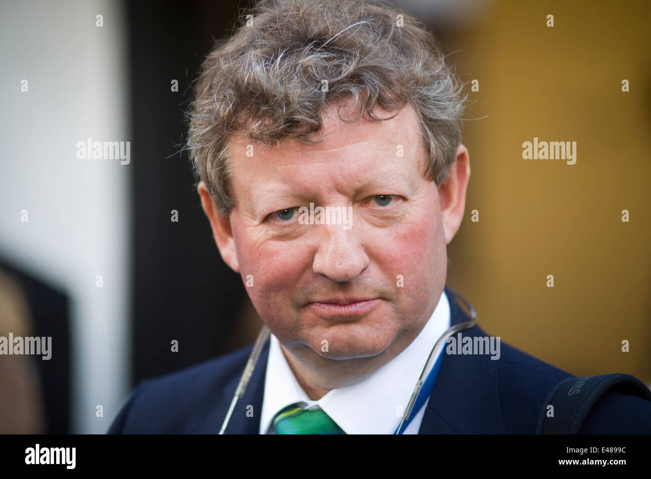 Racehorse trainer Mark Johnston at Newmarket - Stock Image