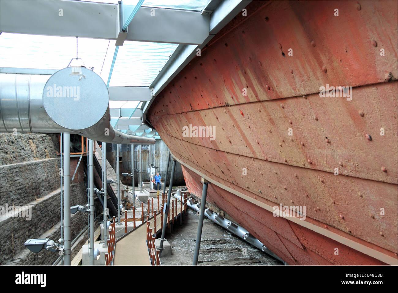 Hull of SS Great Britain, Bristol Docks, England, Great Britain, United Kingdom, UK, Europe Stock Photo