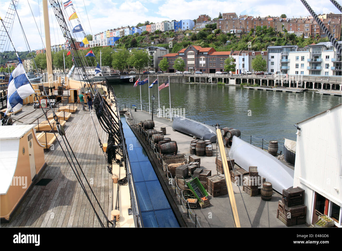 Quayside by SS Great Britain, Bristol Docks, England, Great Britain, United Kingdom, UK, Europe Stock Photo