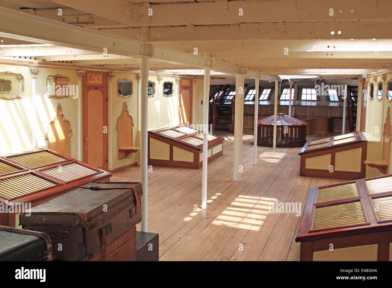 First Class lounge, SS Great Britain, Bristol Docks, England, Great Britain, United Kingdom, UK, Europe Stock Photo
