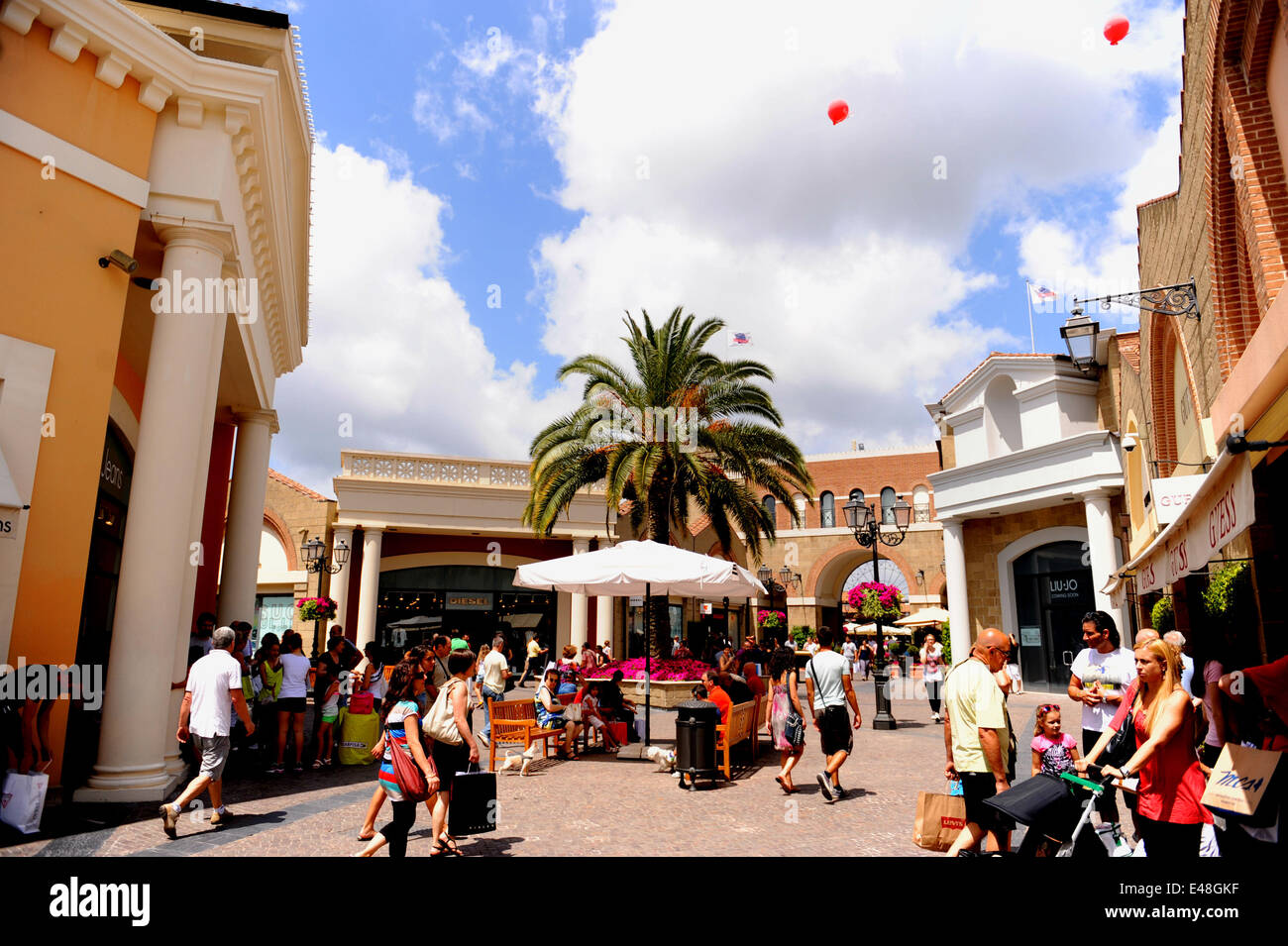 Rome, Italy. 5th July, 2014. Shoppers visit an outlet center near ...