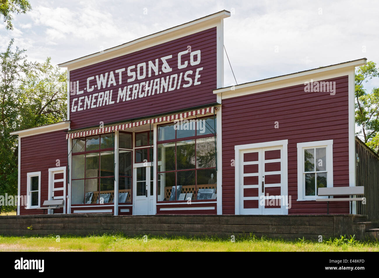 Idaho, Spalding, Nez Perce National Historical Park, Watson's Store, operated 1910-1965 - Stock Image