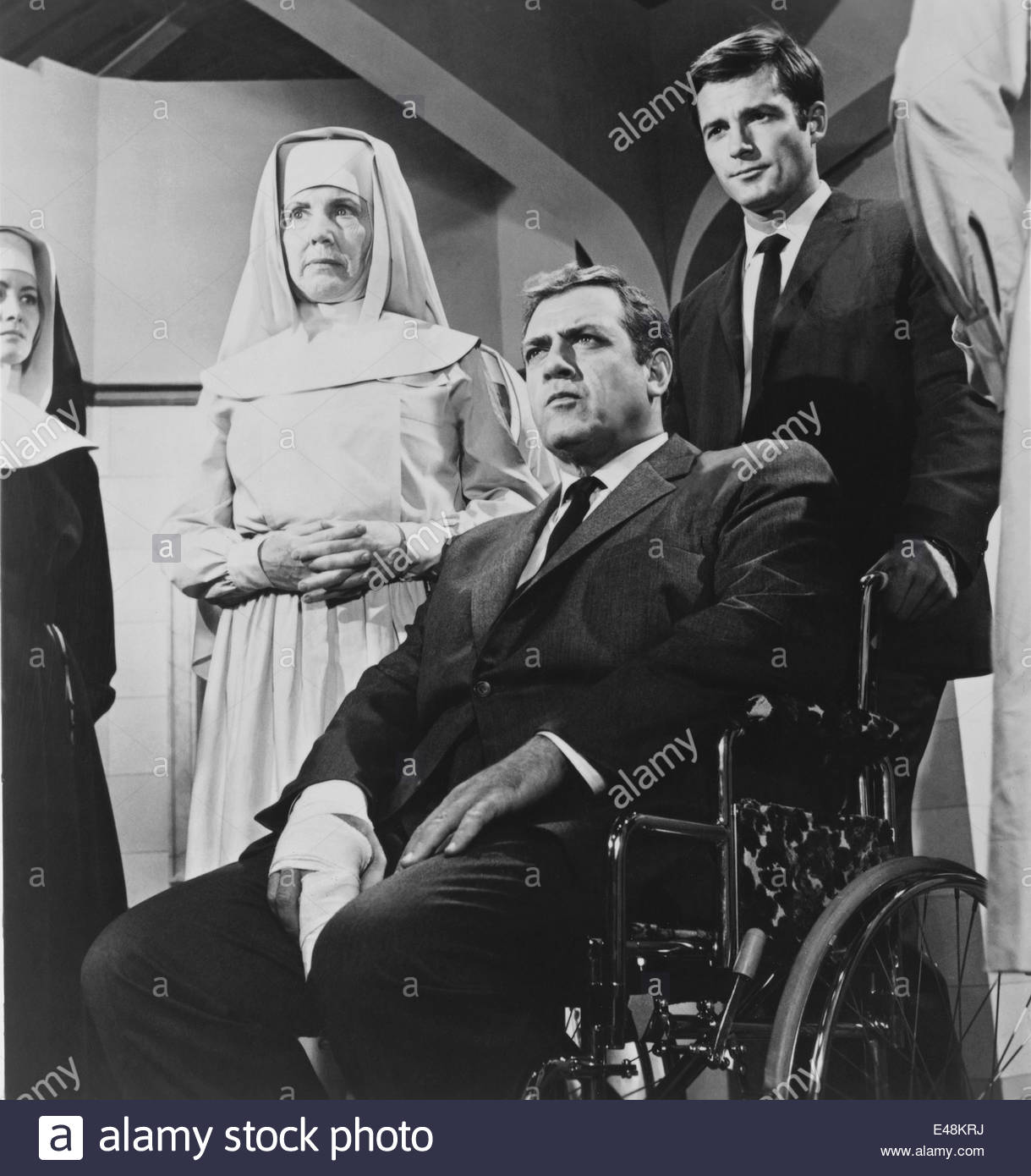 Still from IRONSIDE, which starred Raymond Burr as the  paraplegic Robert T. Ironside. Granamour Weems Collection. - Stock Image