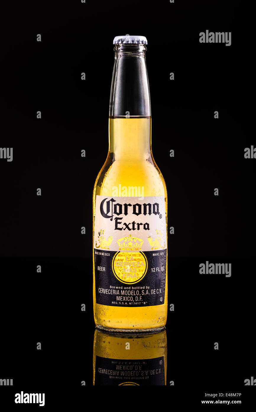Corona Extra beer bottle - Stock Image