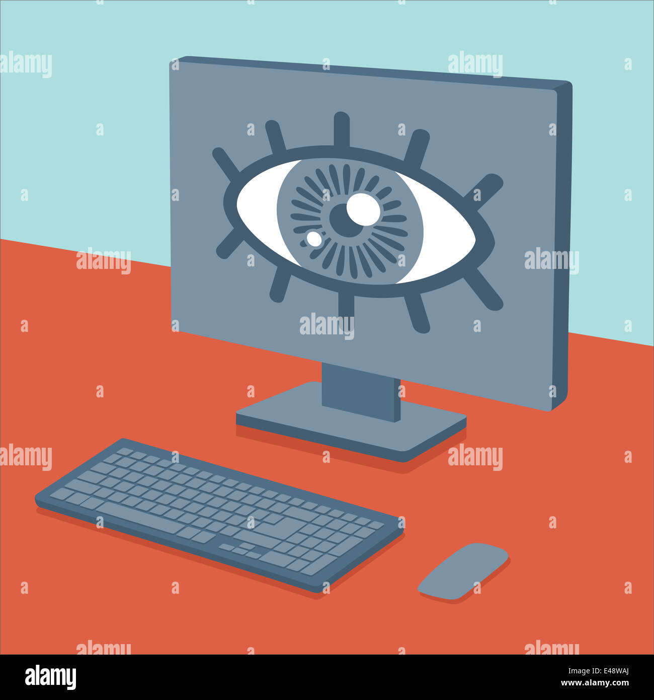 Spying on users - Stock Image