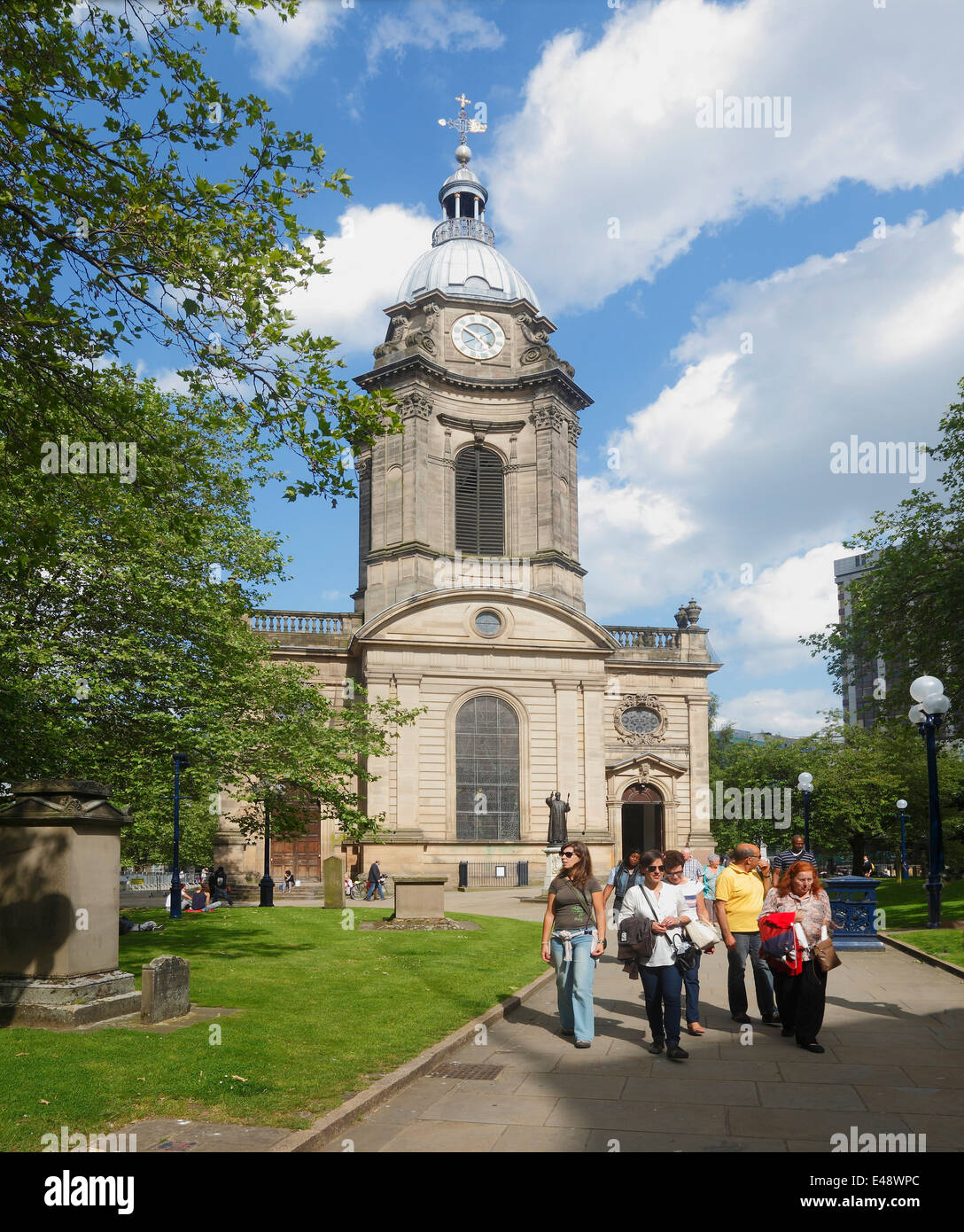 St. Philip's Cathedral in central Birmingham - Stock Image