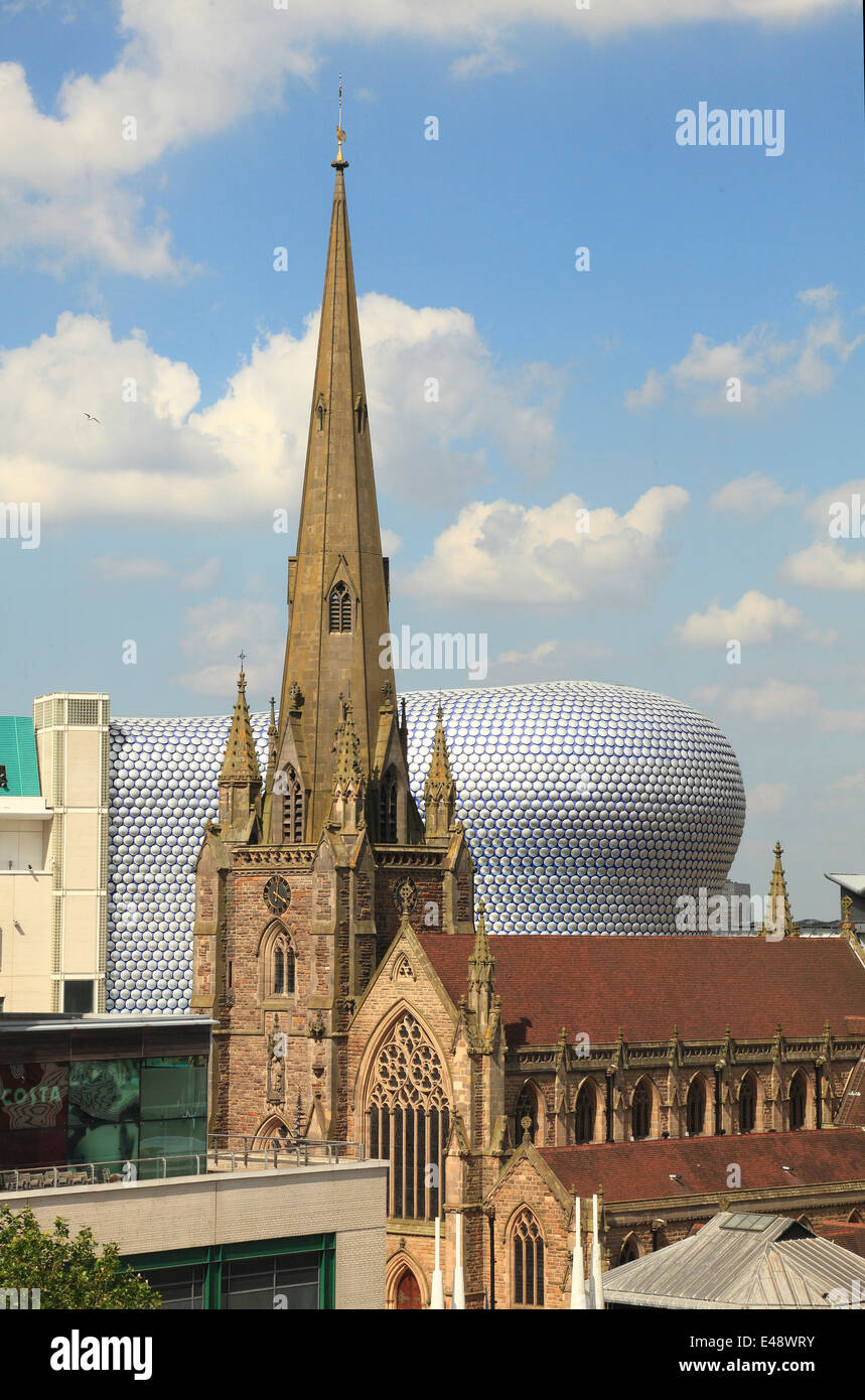 Centre of Birmingham , Church of St. Martin - Stock Image