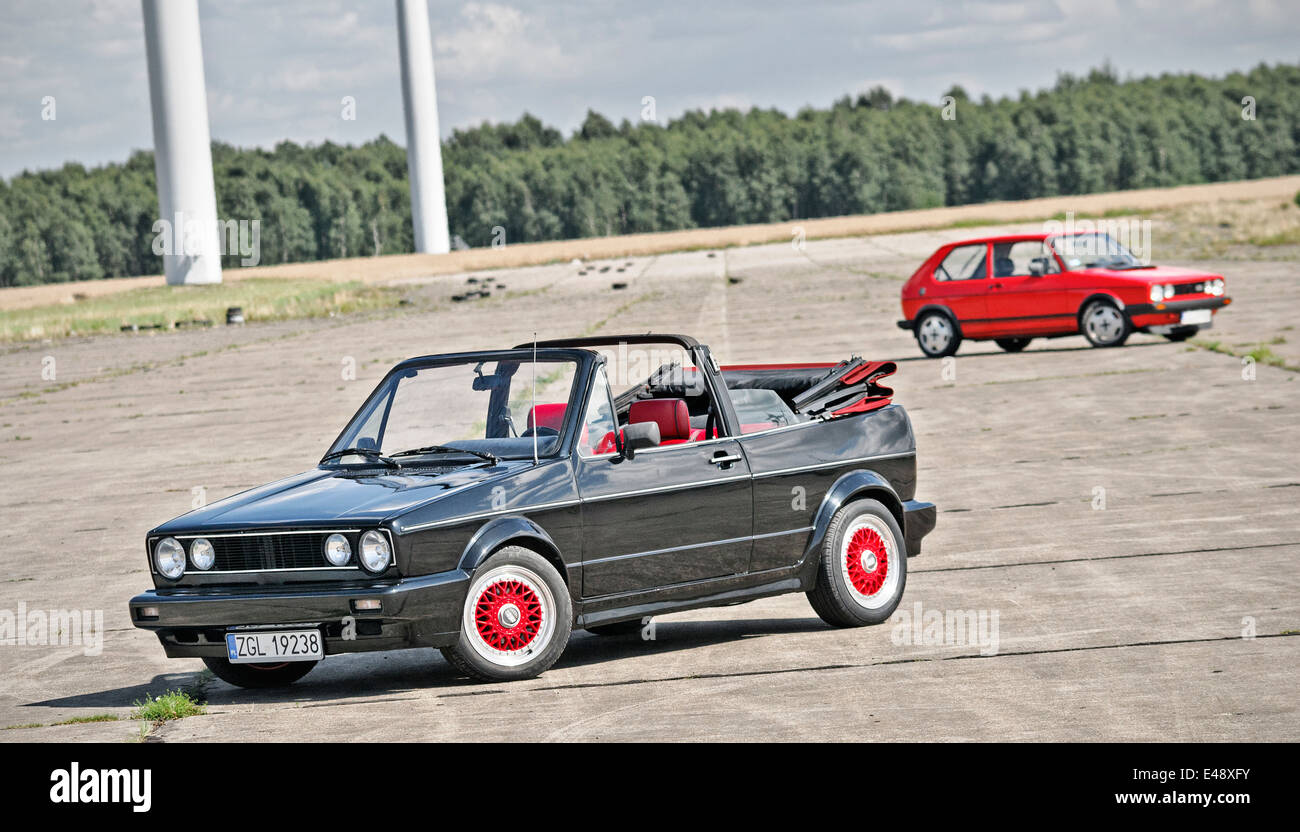 Two vw golf gti - Stock Image
