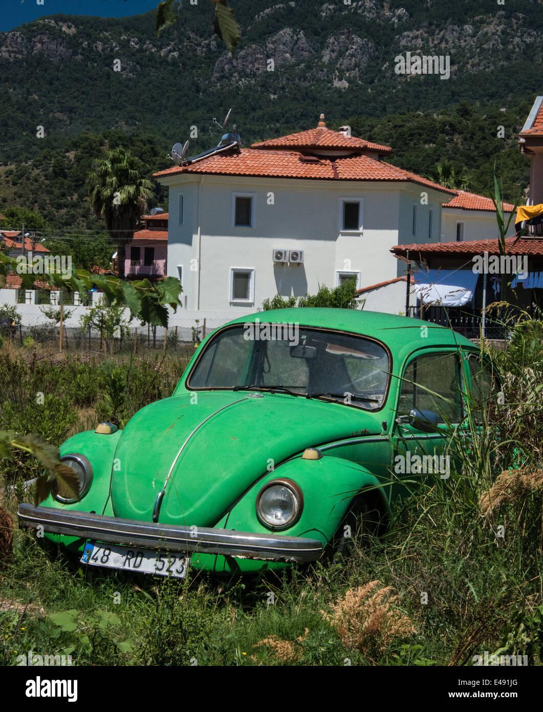 Abandoned VW Beetle 1302. - Stock Image