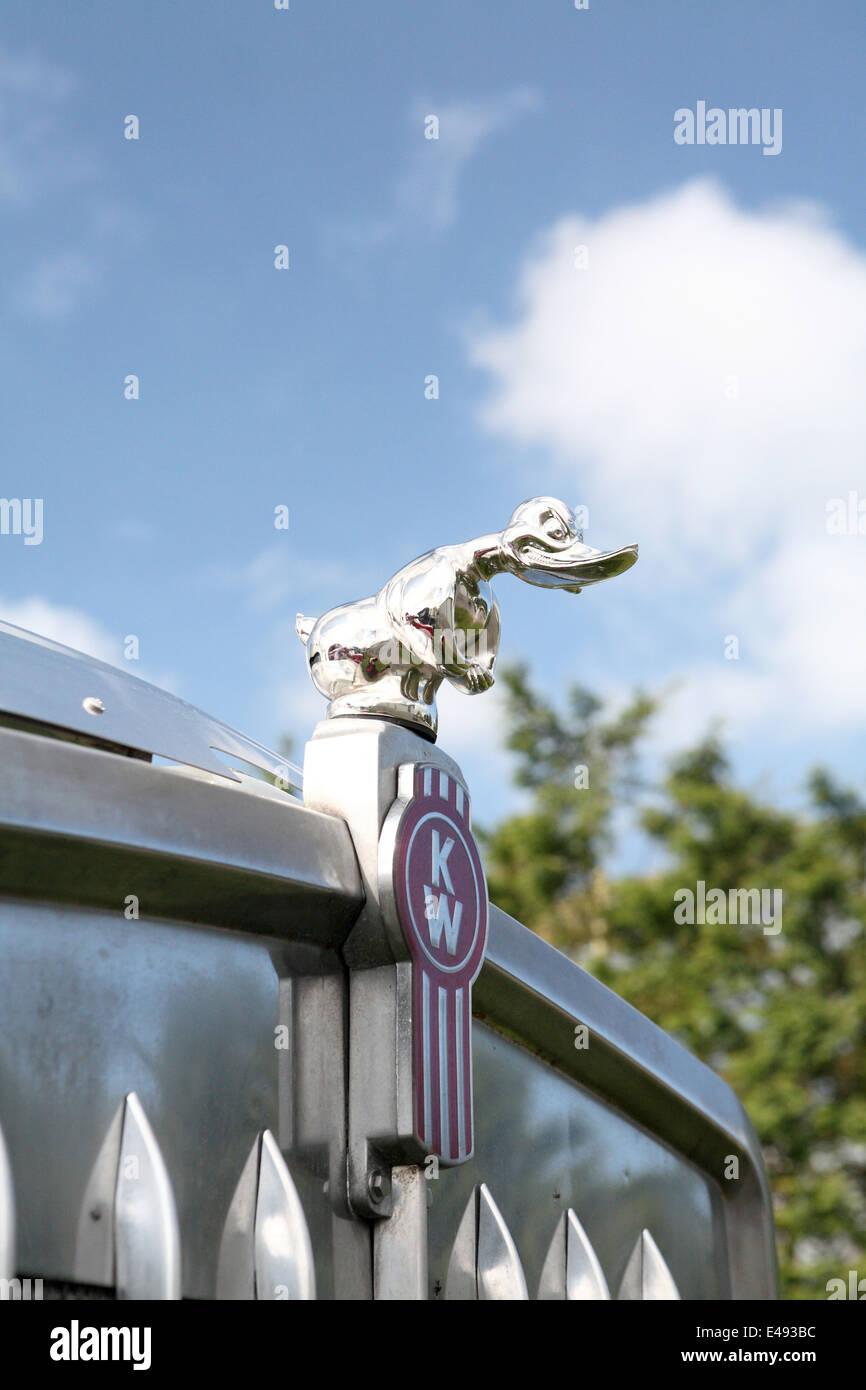Kenworth hood mascot - Stock Image