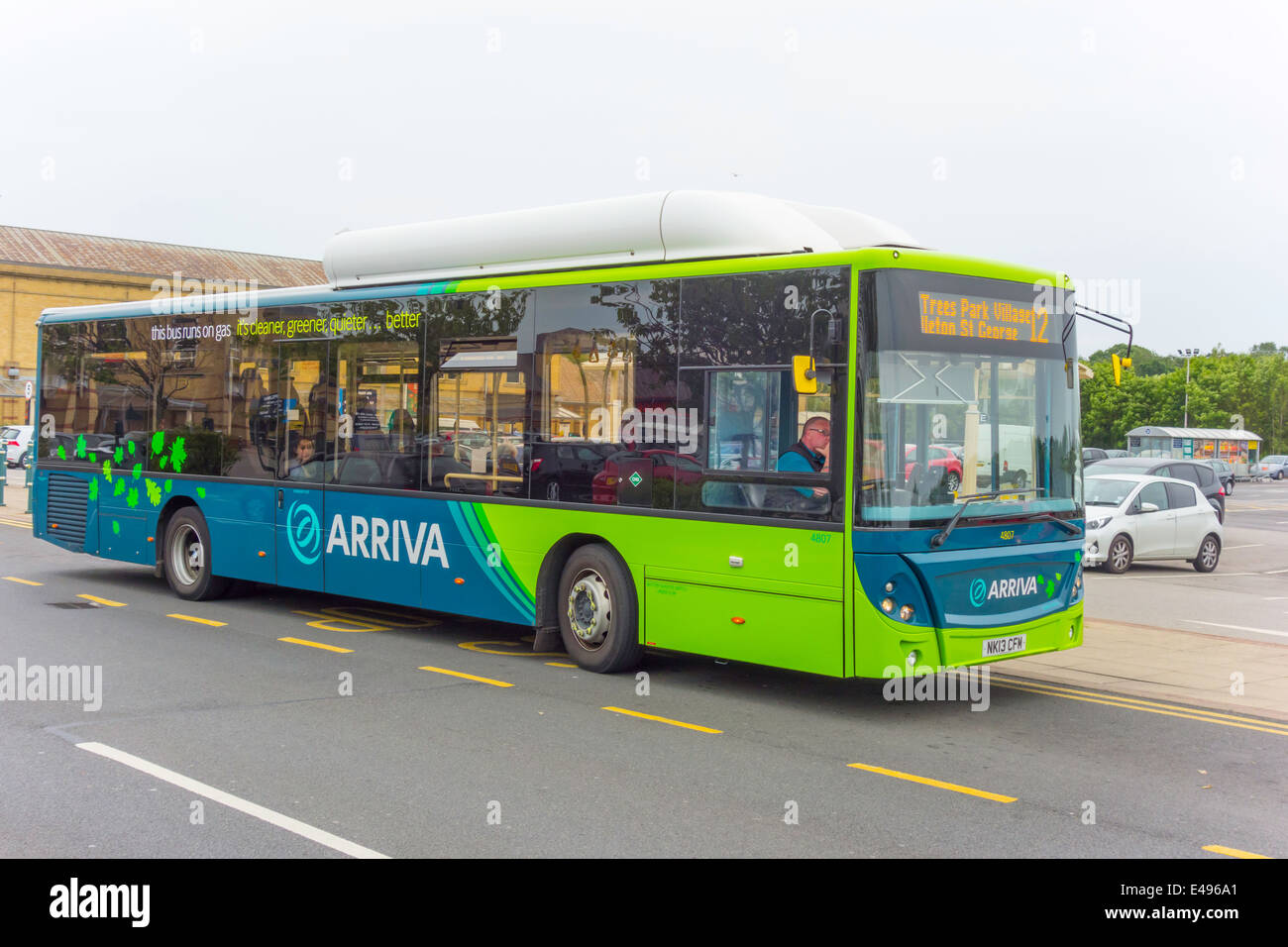 ultra modern arriva single decker cng compressed natural gas eco bus