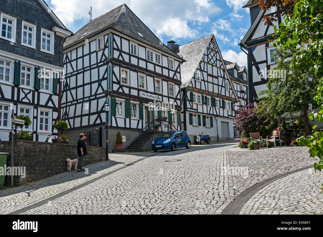 Freudenberg, houses in the old town, NRW Germany - Stock Image