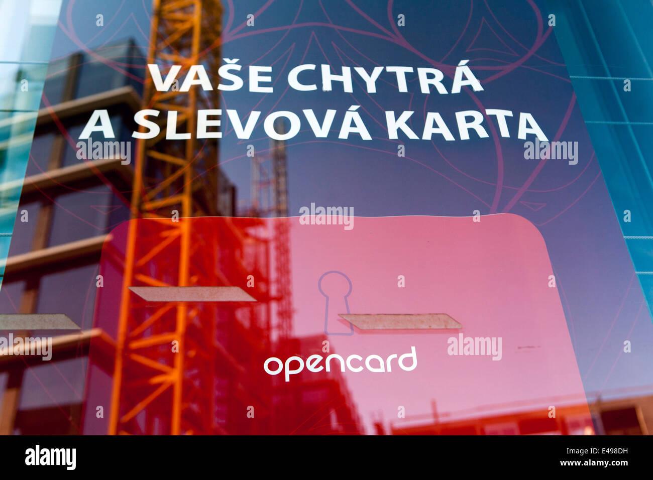 Opencard Prague public transport ticket Czech - Stock Image
