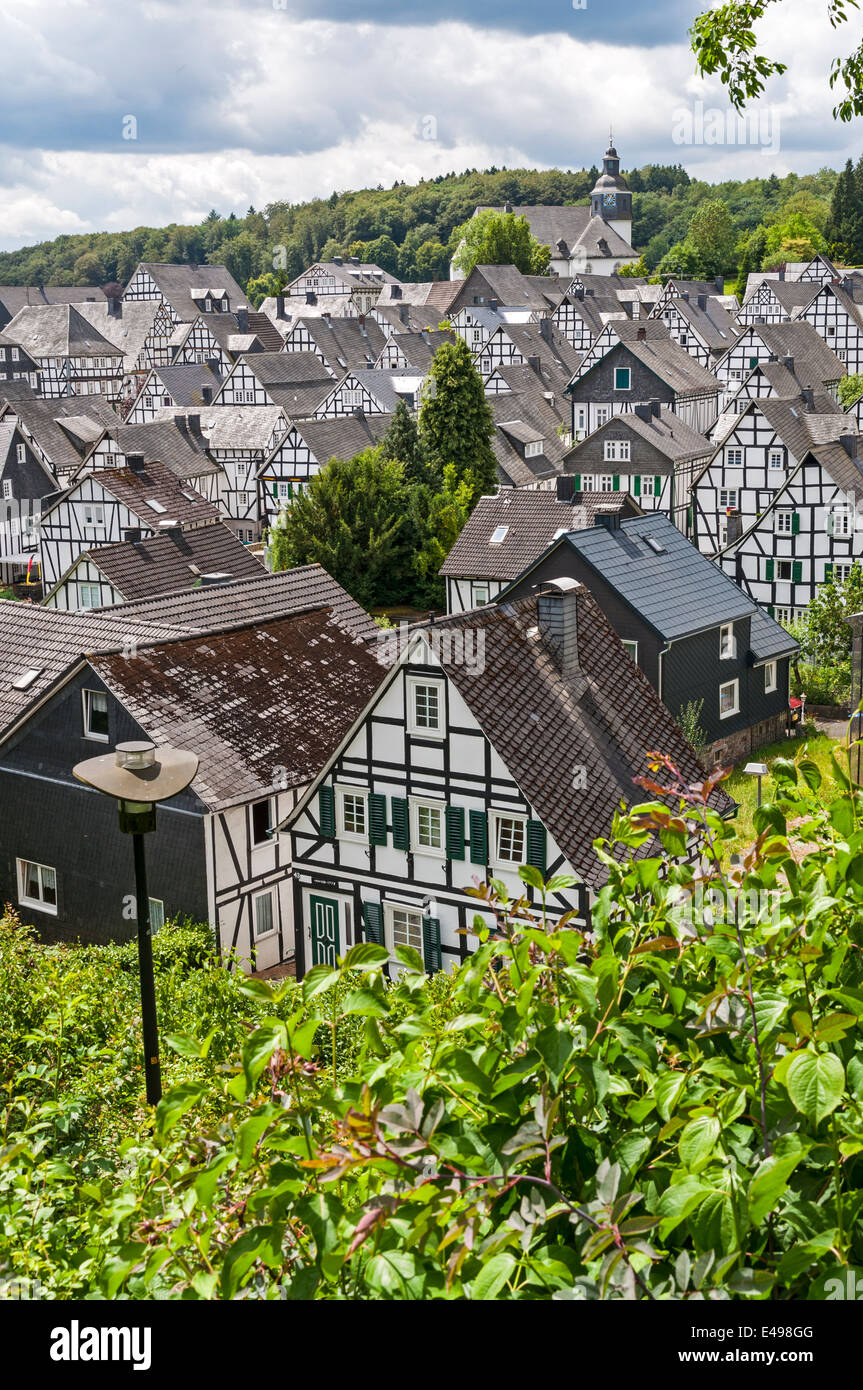Freudenberg, view of the old town, NRW Germany - Stock Image