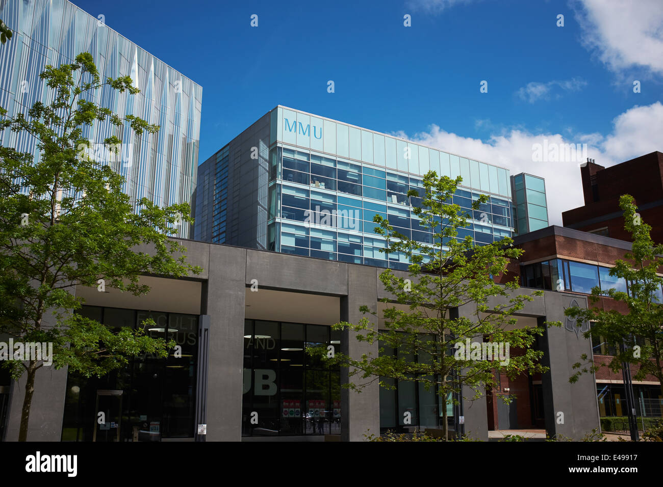 Entrance to the Faculty of Business and Law at Manchester Metropolitan University UK - Stock Image