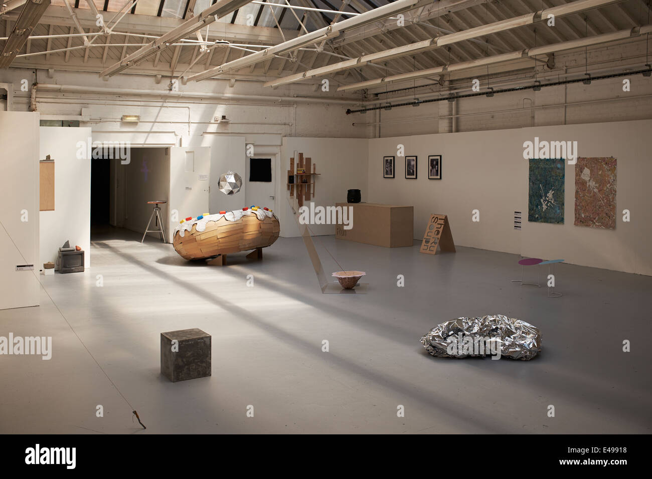 Fine Art and Sculpture degree show exhibition at the School of Art and Design at Manchester Metropolitan University - Stock Image