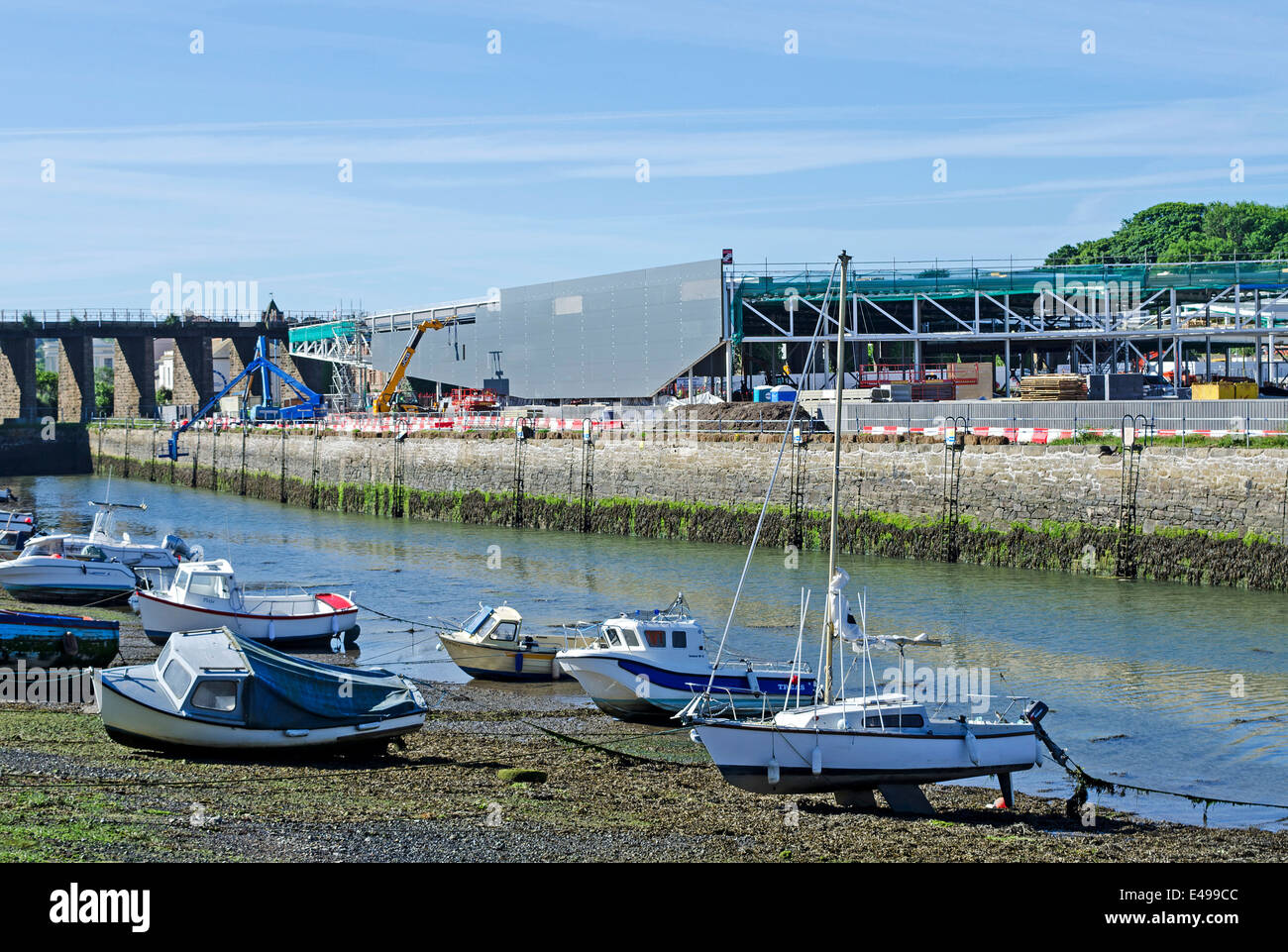 The old harbour in Hayle, Cornwall undergoing a massive redevelopment - Stock Image