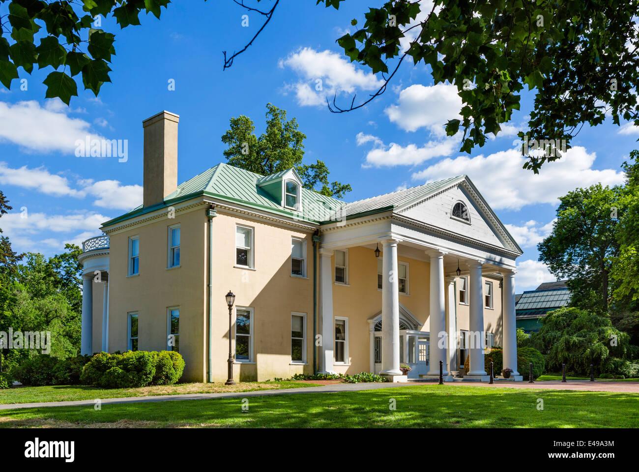 Bellevue Hall, Bellevue State Park, former home of William du Pont jr and one of du Pont Mansions nr Wilmington, - Stock Image