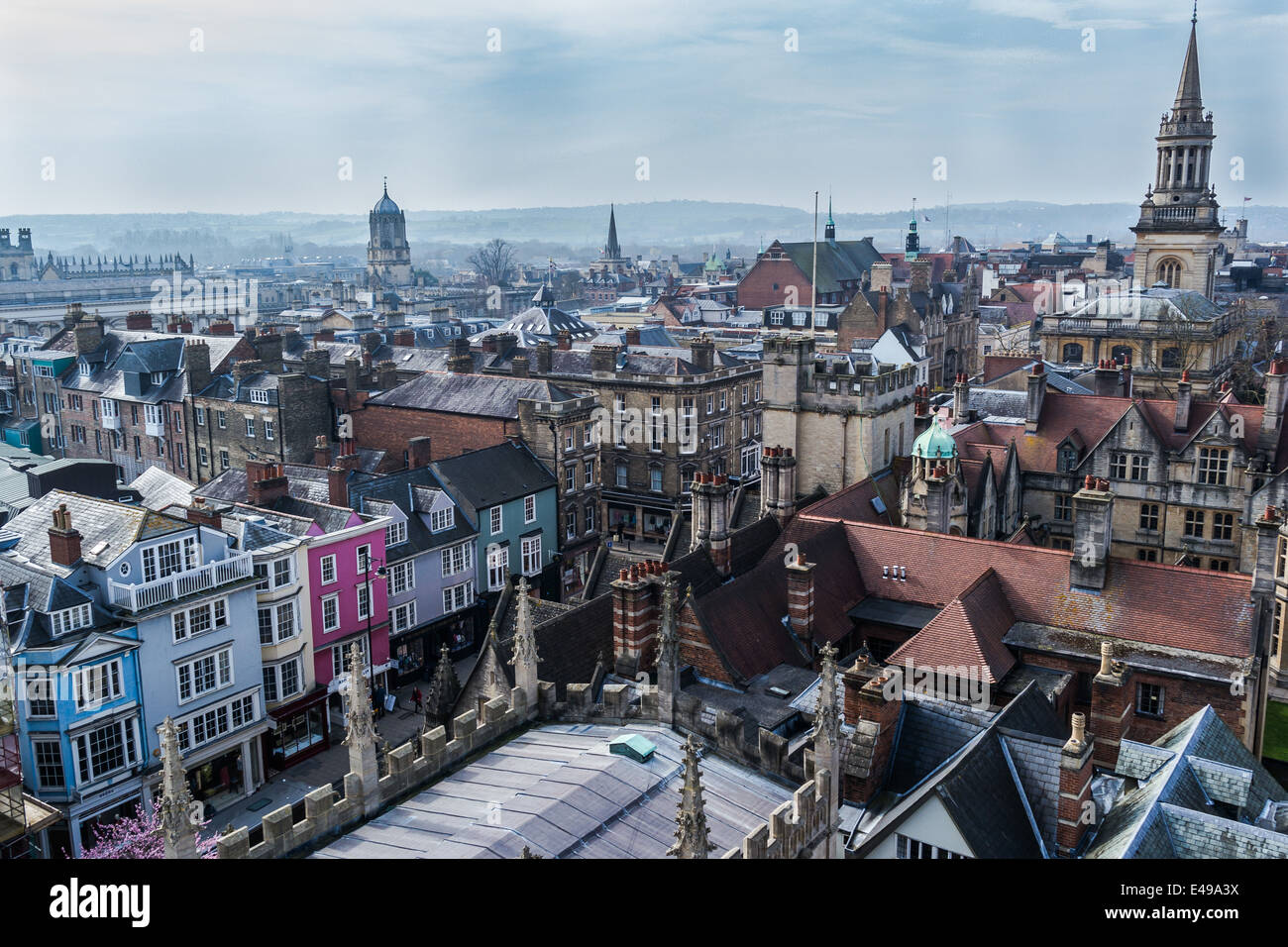 Oxford rooftops - Stock Image