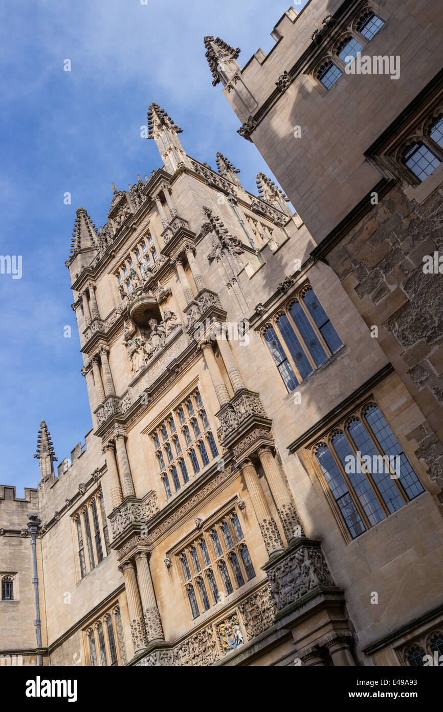 Bodleian Library courtyard, University of Oxford, UK - Stock Image