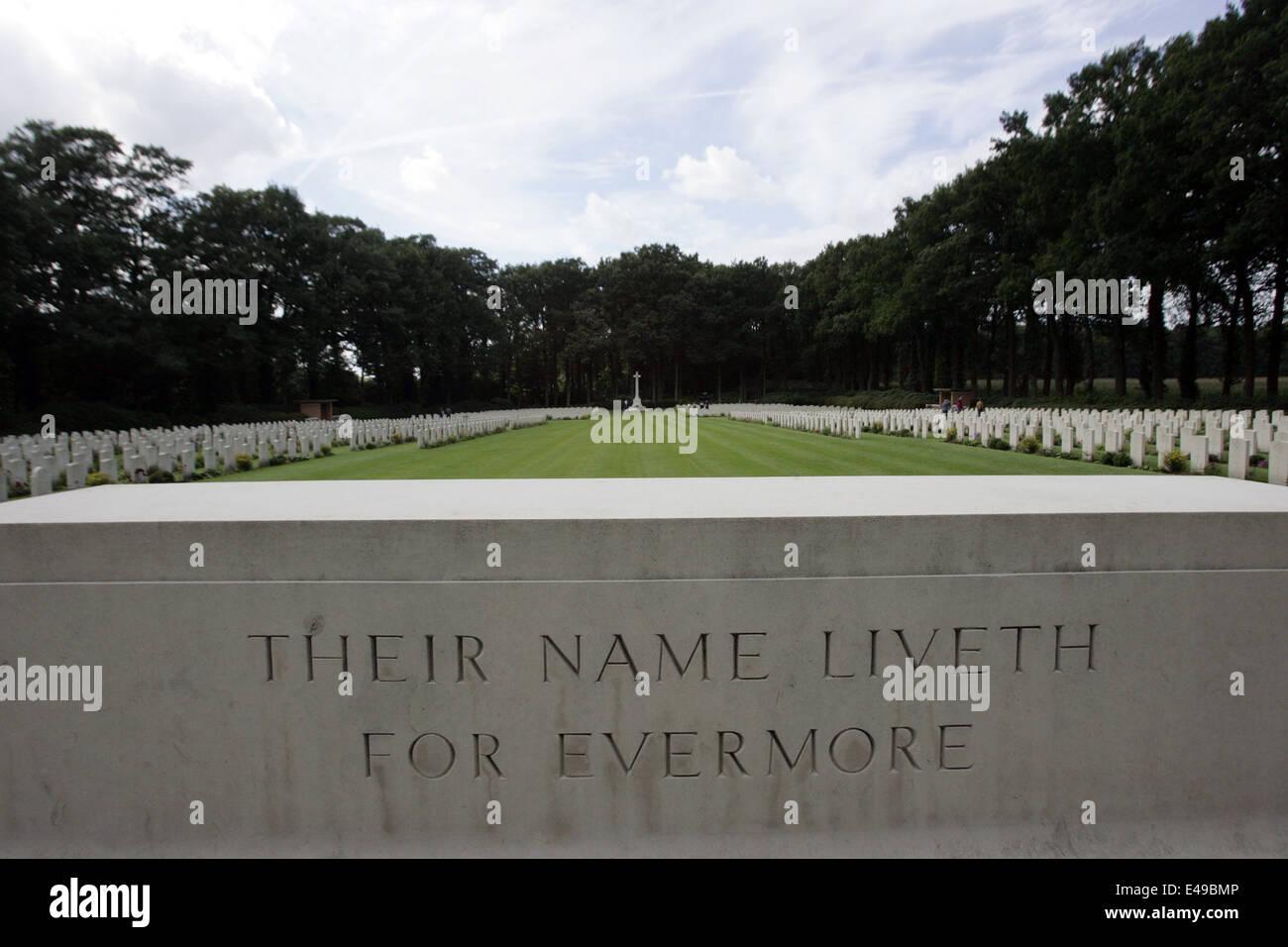Arnhem Oosterkeek Cemetery War, memory of the liberation of Arnhem and Oosterbeek 1939-945 II War World in the Oosterbeek, - Stock Image