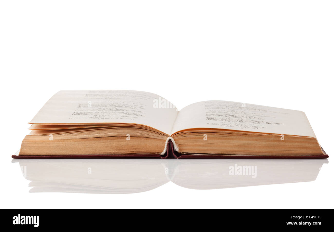 Open book isolated on white background. Clipping Path - Stock Image
