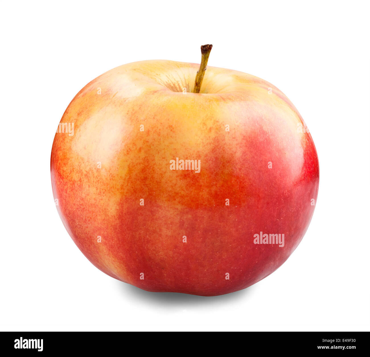 juicy red apple on a white background with clipping path - Stock Image