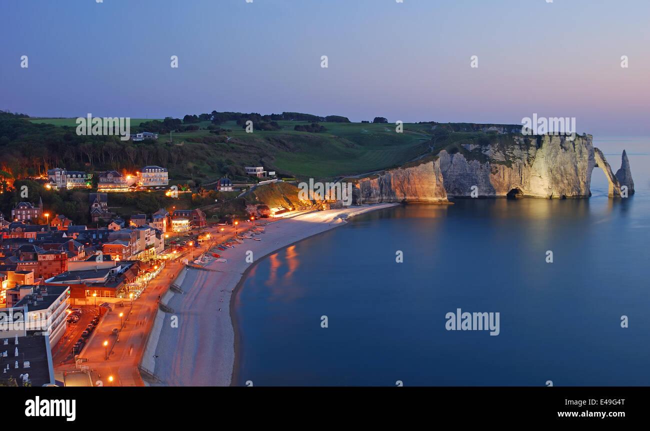Seaside Resort of Etretat,Normandy,France - Stock Image
