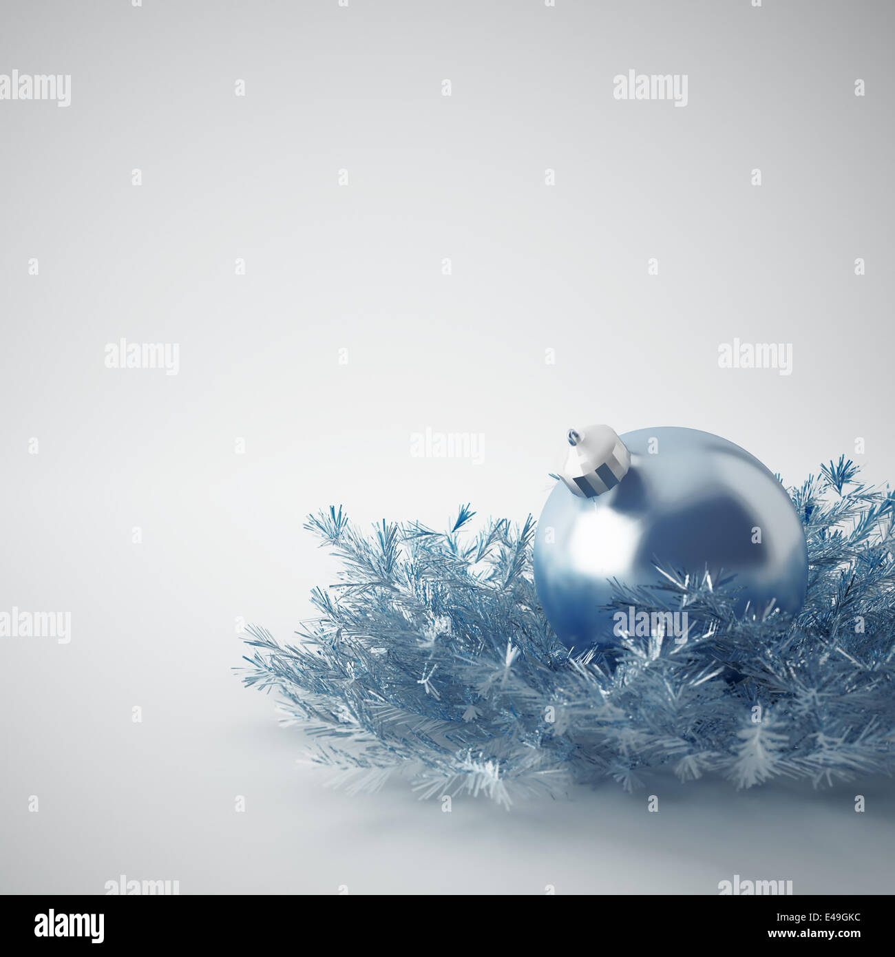 Christmas ball of gentle blue - Stock Image