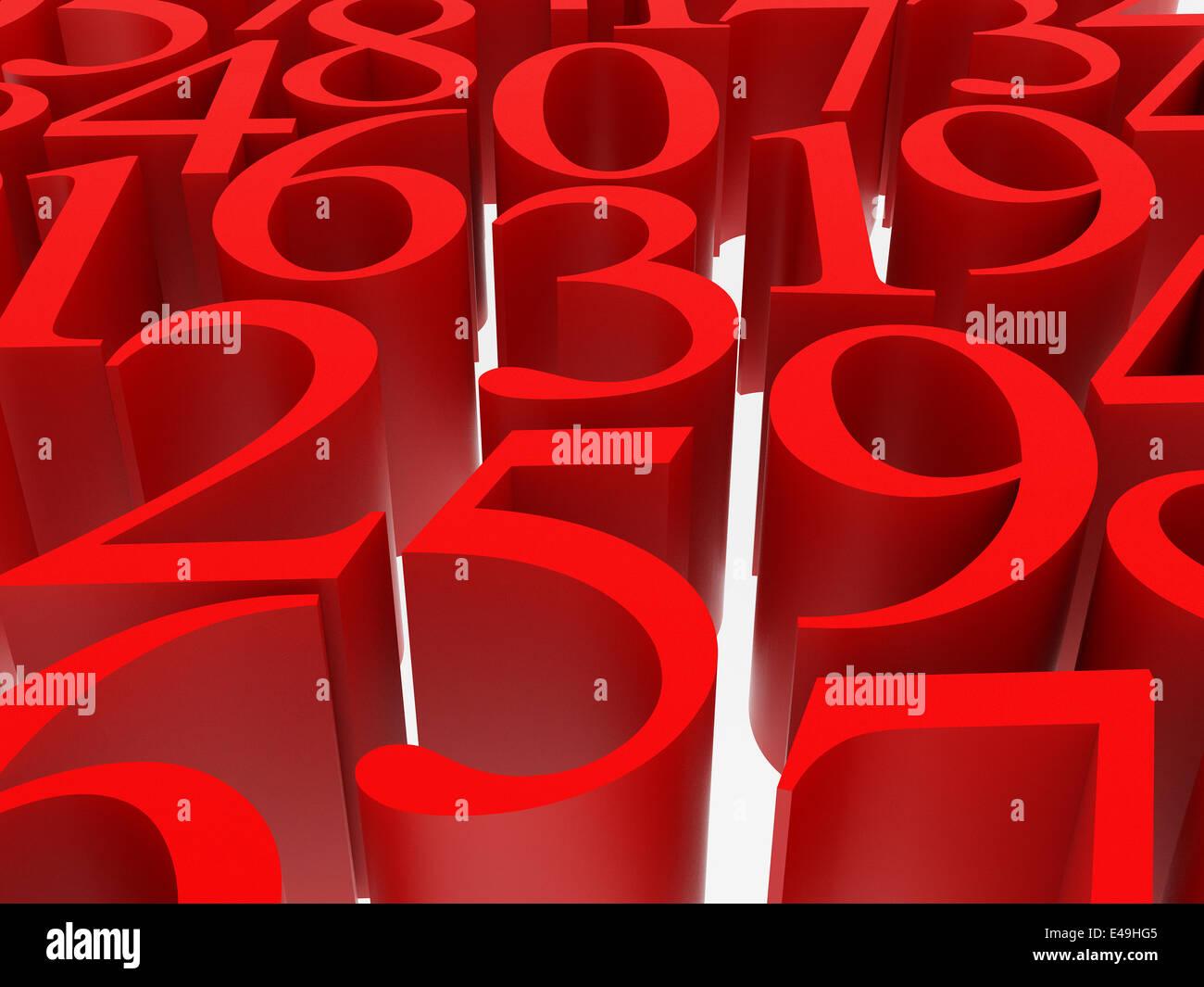mathematics symbol - Stock Image