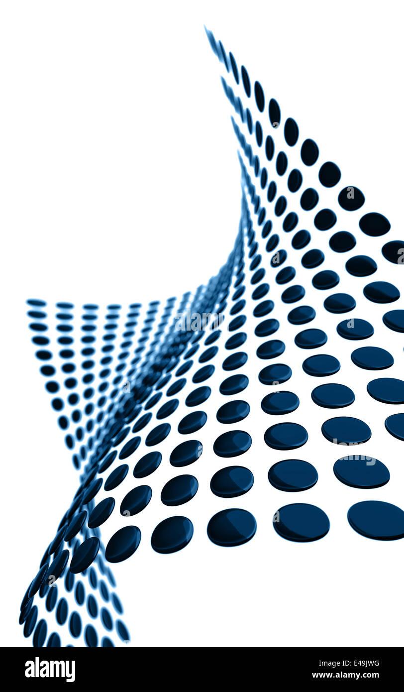 metallic rounded plates - Stock Image