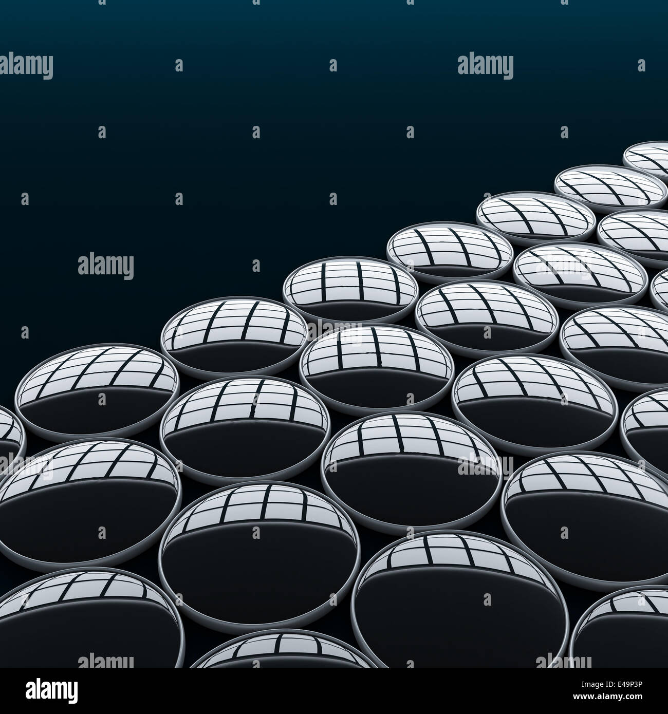 Abstract bases connected together - Stock Image