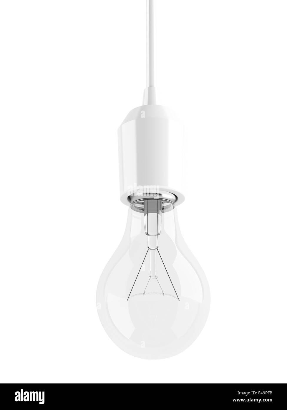 glass transparent light bulb - Stock Image