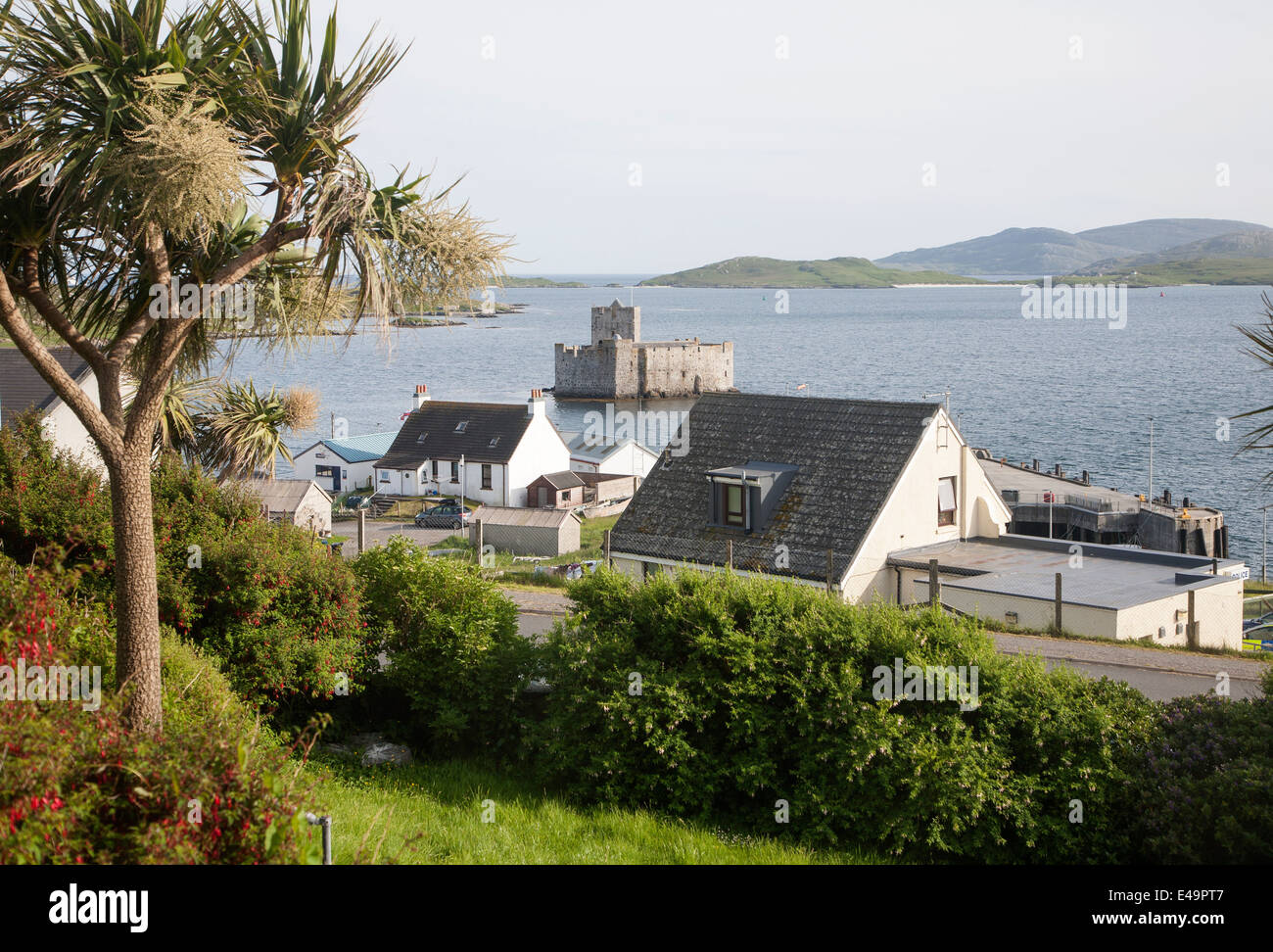 Kisimul Castle in Castlebay, Isle of Barra, Outer Hebrides, Scotland - Stock Image