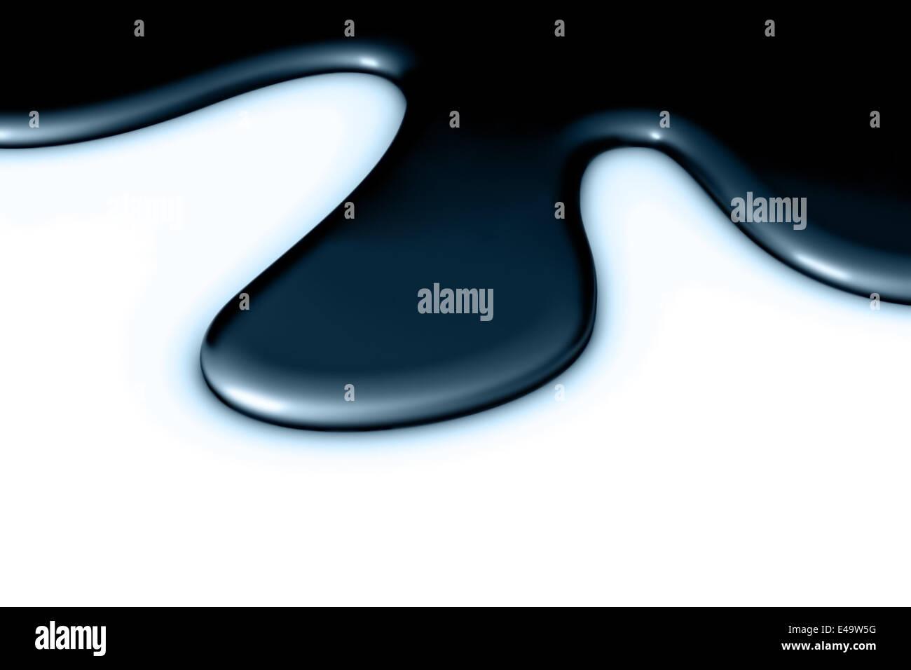 dark blue metallic smudge - Stock Image