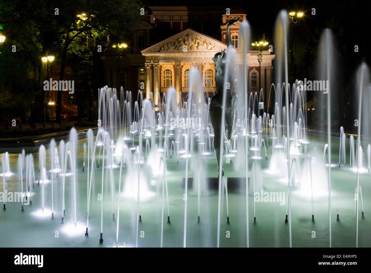 Ivan Vasov, National Theatre, City Garden Park, Sofia, Bulgaria, Europe Stock Photo