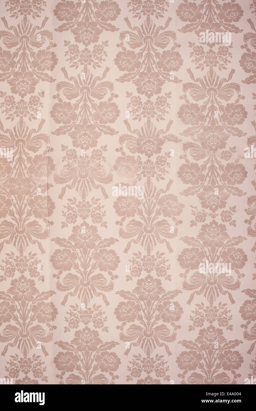 Vintage Floral Wallpaper Stock Photo 71519620 Alamy