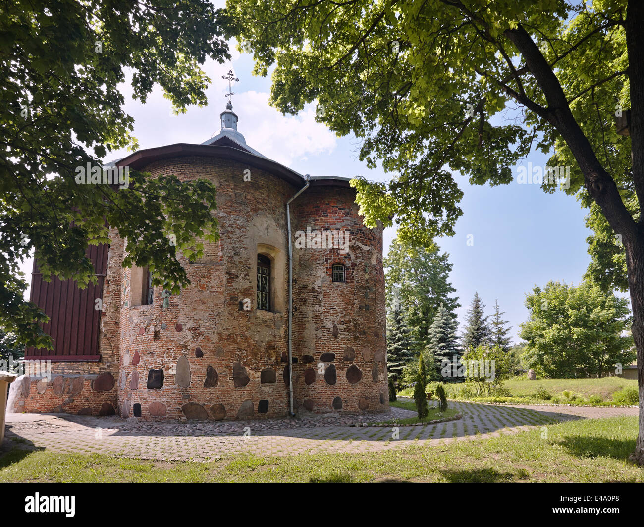 Church of St Boris and Gleb or Kalozhskaya in Summer Bright Day - Stock Image