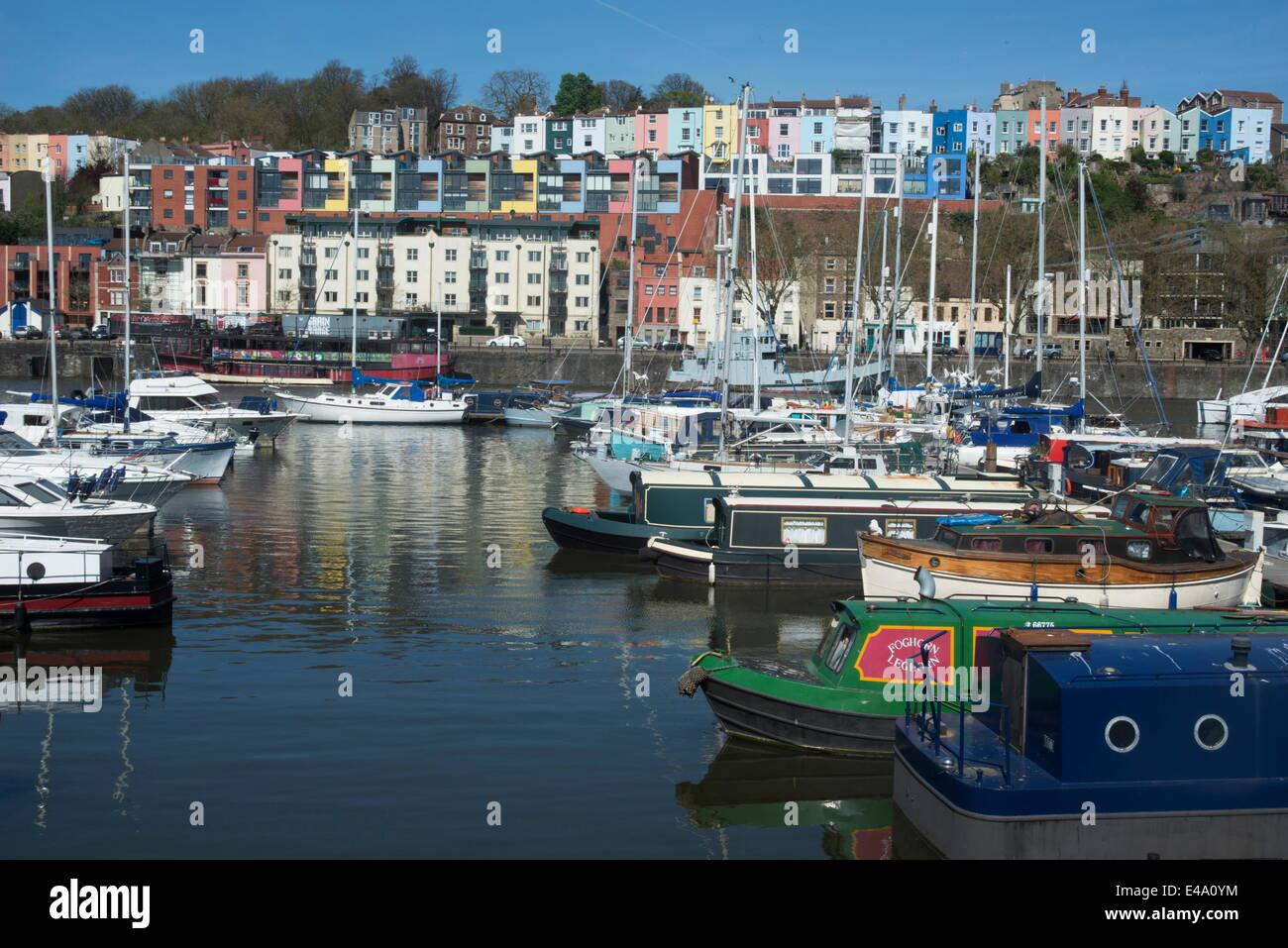 Along the Harbourside, Bristol, England, United Kingdom, Europe - Stock Image