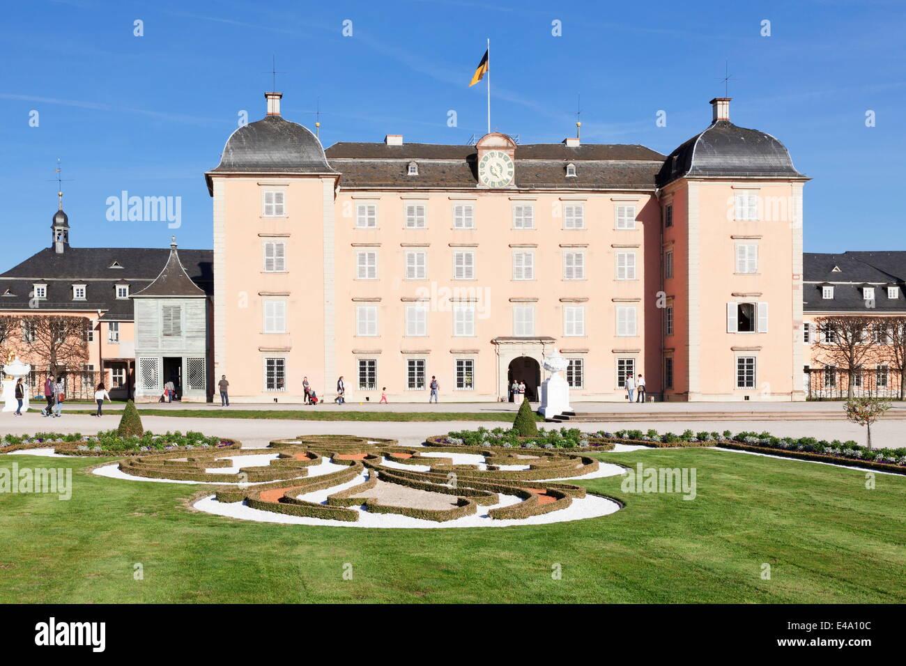 Schloss Schwetzingen Palace, Palace Gardens, Schwetzingen, Baden Wurttemberg, Germany, Europe - Stock Image