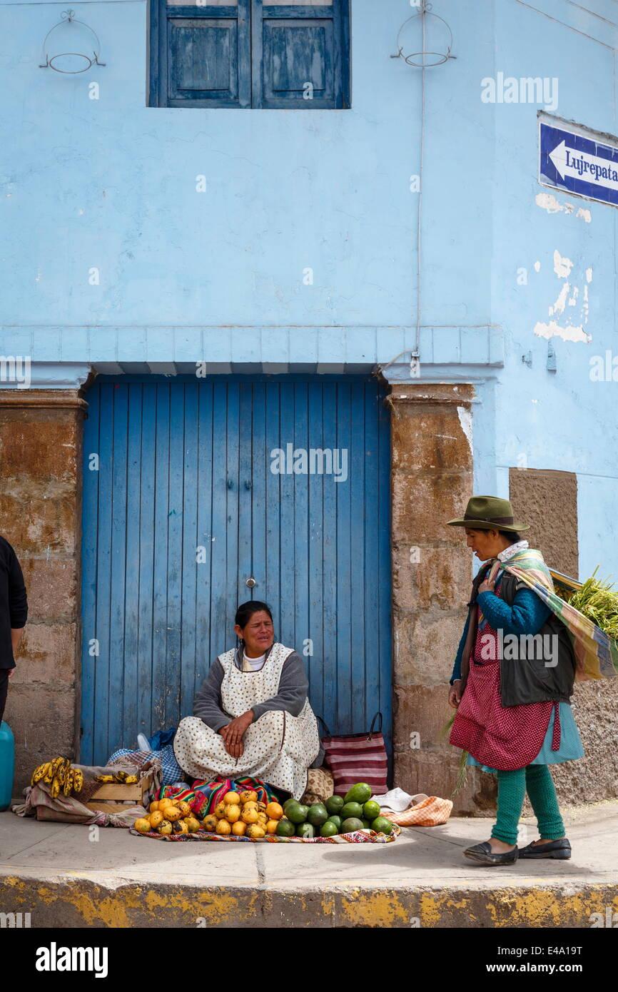 Street scene in Cuzco, Peru, South America - Stock Image