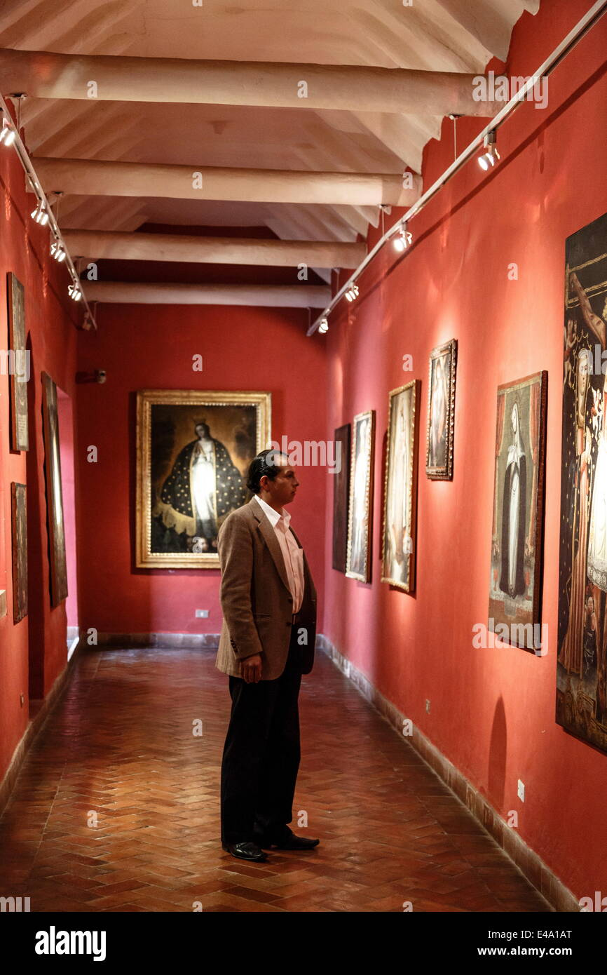 Vice Royal Gallery at Casa Cabrera (Museum of Pre-Columbian Art), Cuzco, Peru, South America - Stock Image