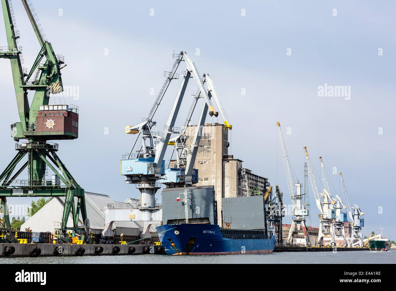 The once communist controlled Gdansk shipyards, home to the Solidarity movement, Gdansk, Poland, Europe - Stock Image