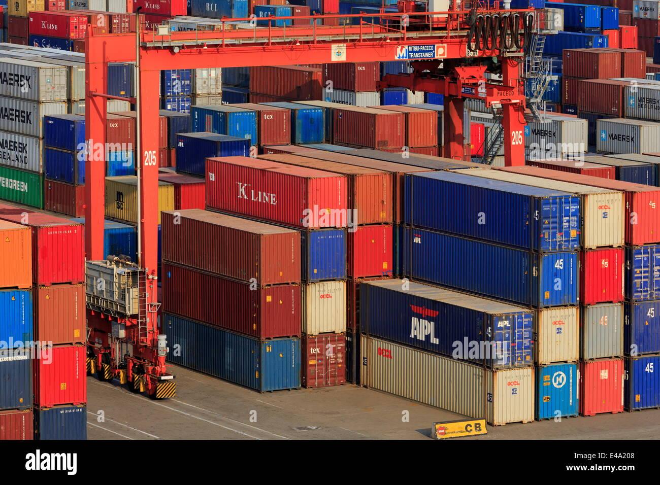 Container port, Sihanoukville Port, Sihanouk Province, Cambodia, Indochina, Southeast Asia, Asia - Stock Image