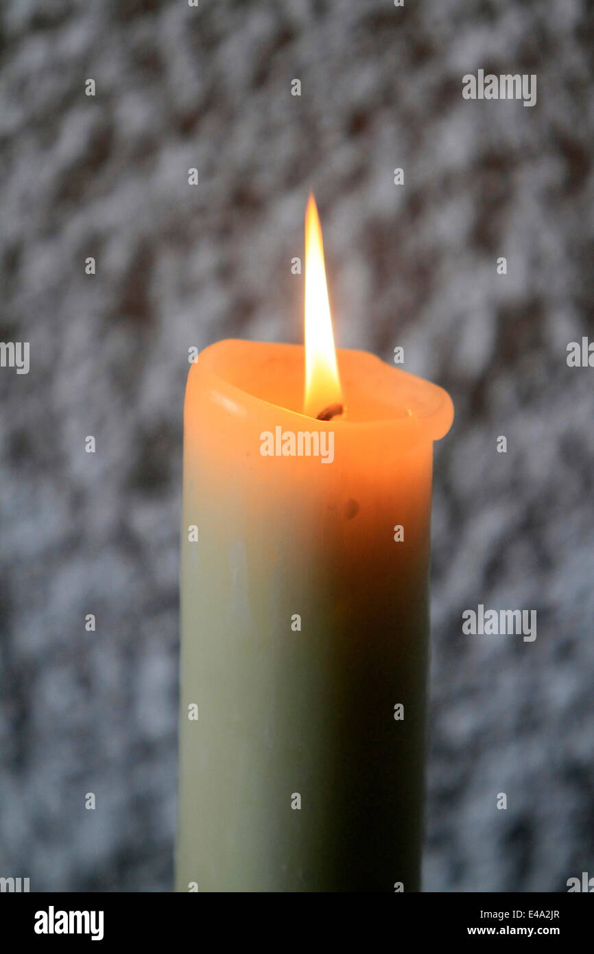 Candle, Haute Savoie, France, Europe - Stock Image